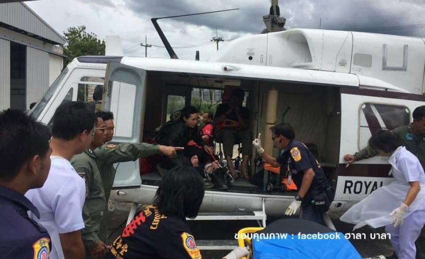 นำตัวนักบิน-ช่างเครื่อง ฮ.ตำรวจตกที่เบตง ส่ง รพ.ยะลา