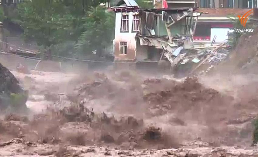 น้ำท่วม-ดินถล่มในทิเบต ปชช.กว่า 5 หมื่นคนเสี่ยงภัย
