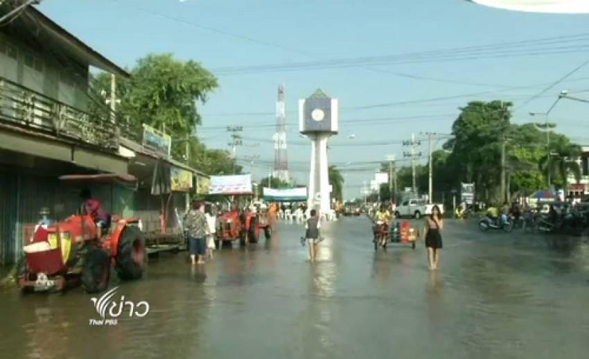น้ำท่วมอรัญประเทศ จ.สระแก้ว เริ่มคลี่คลาย คาดเข้าสู่ภาวะปกติใน 3 วัน