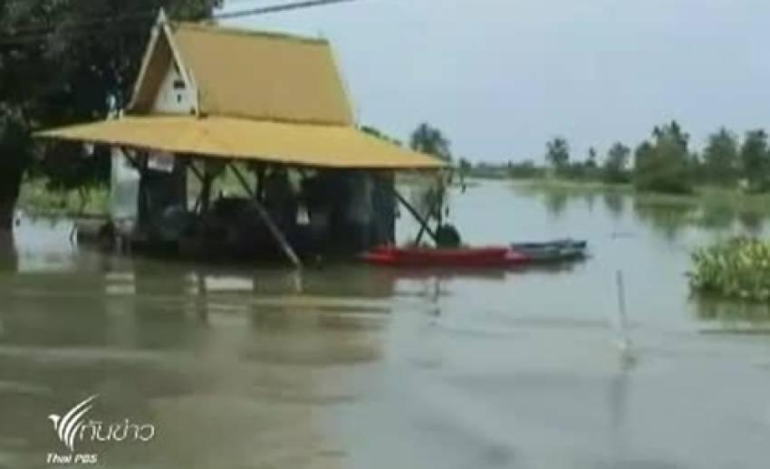 น้ำท่วมปราจีนบุรี เริ่มคลี่คลายต่อเนื่อง