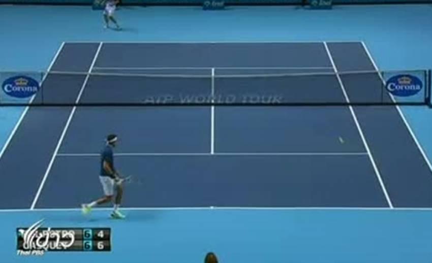 ฮวน มาร์ติน เดล ชนะเทนนิส เวิล์ด ทัวร์ ไฟนอล ในนัดแรกกลุ่มบี