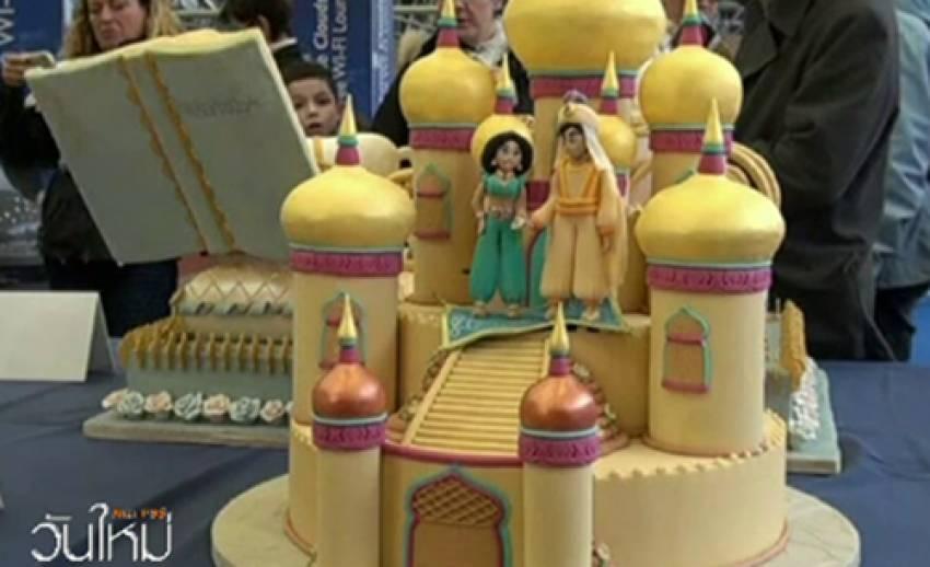 เค้กการ์ตูนดิสนีย์-ซุปเปอร์ฮีโร่ ประติมากรรมในงานเค้กนานาชาติ ประเทศอิตาลี