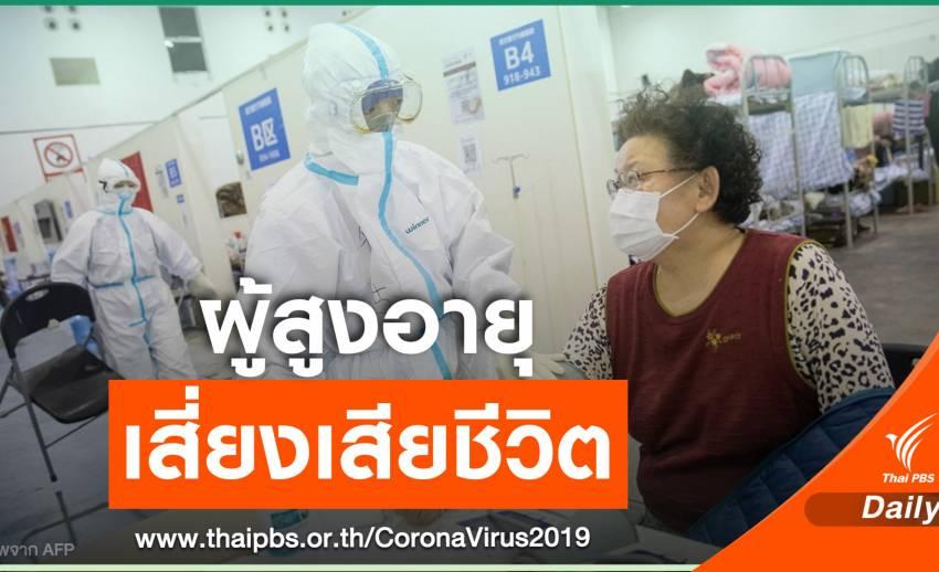 รายงานจีนชี้ผู้สูงวัย-มีโรคประจำตัว เสี่ยงเสียชีวิตจาก COVID-19