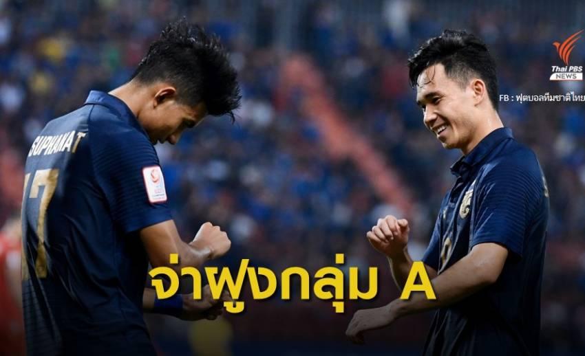 ทีมชาติไทย ถล่ม บาห์เรน 5-0 นำจ่าฝูงกลุ่ม A ศึก U -23 ชิงแชมป์เอเชีย
