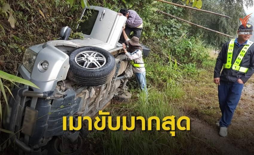 วันแรกเกิดอุบัติเหตุ 464 ครั้ง 30% เมาแล้วขับ