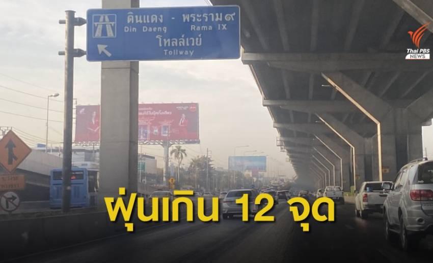 กทม.ฝุ่น PM2.5 ยังเกินมาตรฐาน สูงสุดริมถนนพหลโยธิน