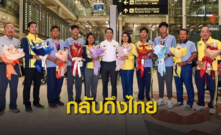 นักกีฬากอล์ฟทีมชาติกลับถึงไทย หลังคว้า 6 เหรียญซีเกมส์