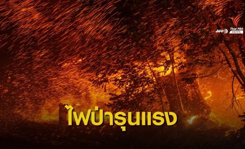 ไฟป่ารุนแรงในรัฐแคลิฟอร์เนีย สหรัฐฯ เสียหาย 25,000 ไร่
