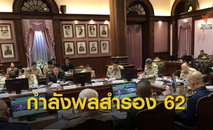 รองนายกรัฐมนตรี เรียกประชุมขับเคลื่อนระบบกำลังพลสำรองปี 2562