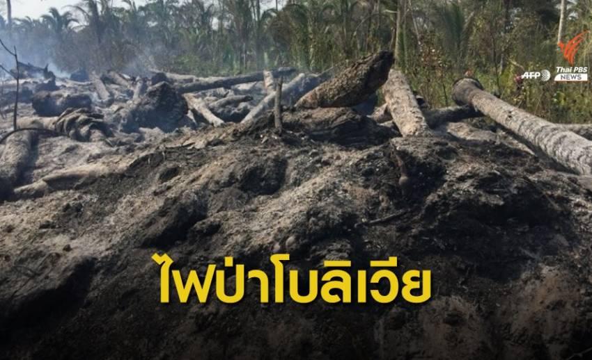 ไฟป่าโบลิเวียทำลายระบบนิเวศ เผาผลาญแล้ว 6 ล้านไร่