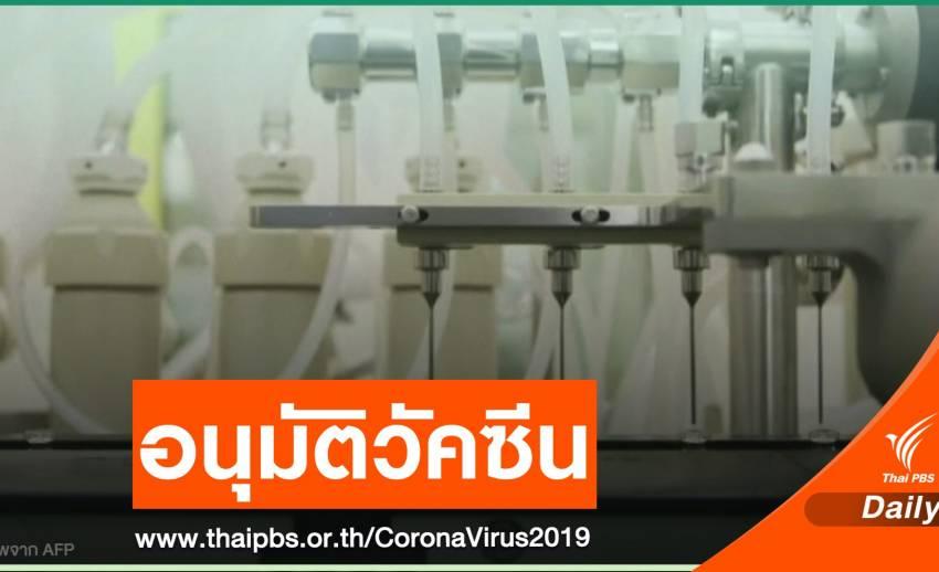 """""""อังกฤษ"""" อนุมัติวัคซีน COVID-19 ชาติแรกของโลก"""