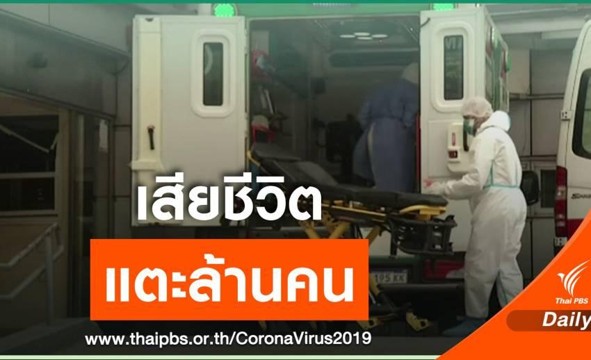 ยอดเสียชีวิตจาก COVID-19 ทั่วโลก แตะ 1 ล้านคน