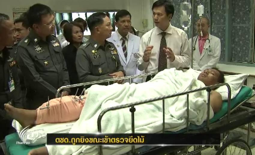 เกิดเหตุตชด. จันทบุรีถูกยิงบาดเจ็บ ขณะเข้าจับกุมการตรวจค้นยาเสพติด