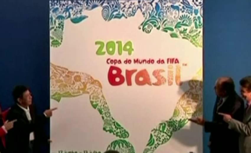 """""""บราซิล"""" เปิดตัวโปสเตอร์บอลโลก 2014"""
