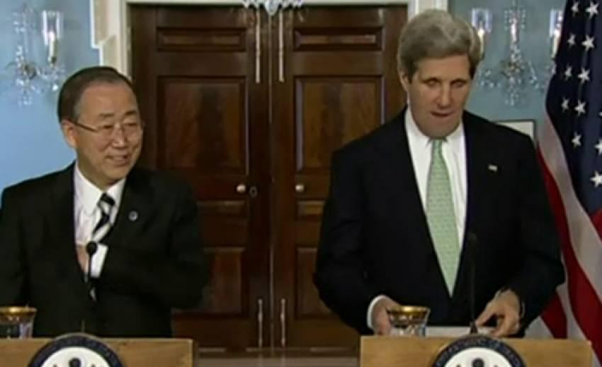 """""""จอห์น เคอร์รี่"""" ชี้ประชาคมโลกควรเร่งหาบทลงโทษเกาหลีเหนือ"""