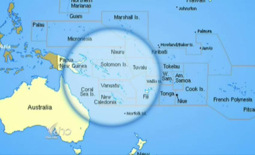 เกิดคลื่นสึนามิ สูง 1ม. หลังแผ่นดินไหว 8 ริคเตอร์ ใกล้เกาะโซโลมอน