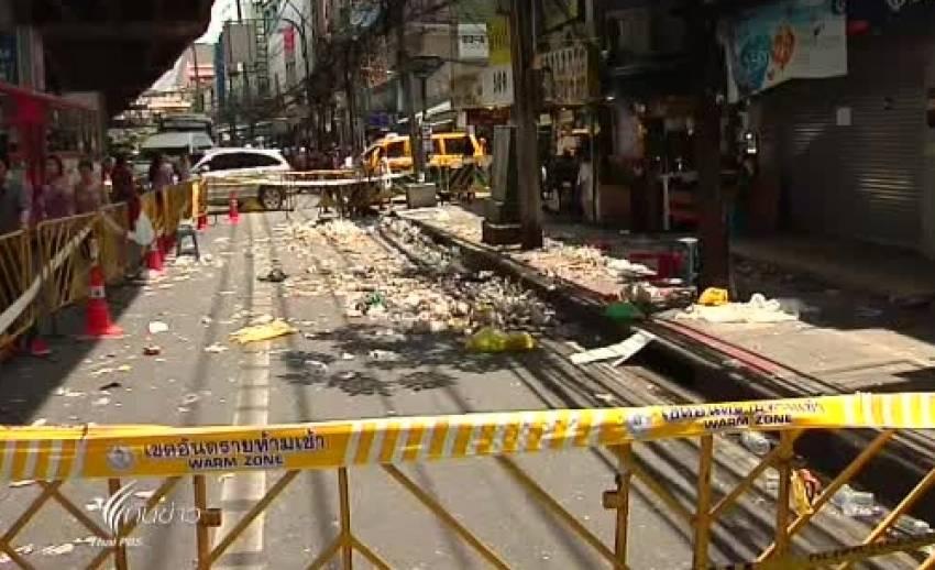 ตำรวจตรวจค้นพื้นที่ย่านรามคำแหง เพื่อหาความเชื่อมโยงคดีวางระเบิด