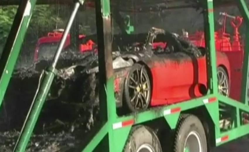 เจ้าของรถหรูที่ถูกเพลิงไหม้ ยังไม่มาแสดงตัว