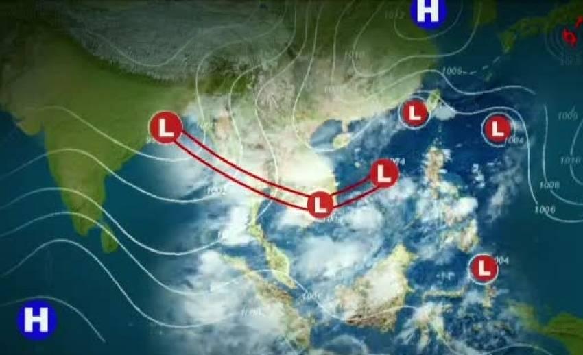 อิทธิพลมรสุม ภาคกลาง-ใต้-ตะวันออก มีฝนตกเป็นส่วนมาก คลื่นลมแรง