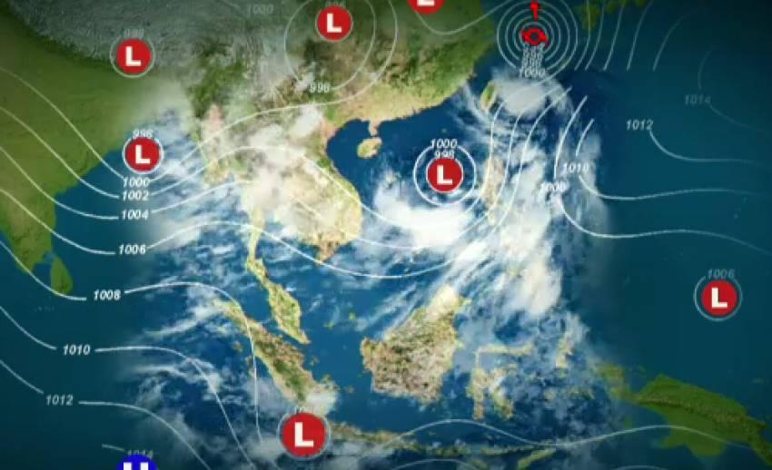 ลมมรสุมพัดขึ้นตอนบน ภาคตะวันตก-กลาง-เหนือ มีฝนกระจาย