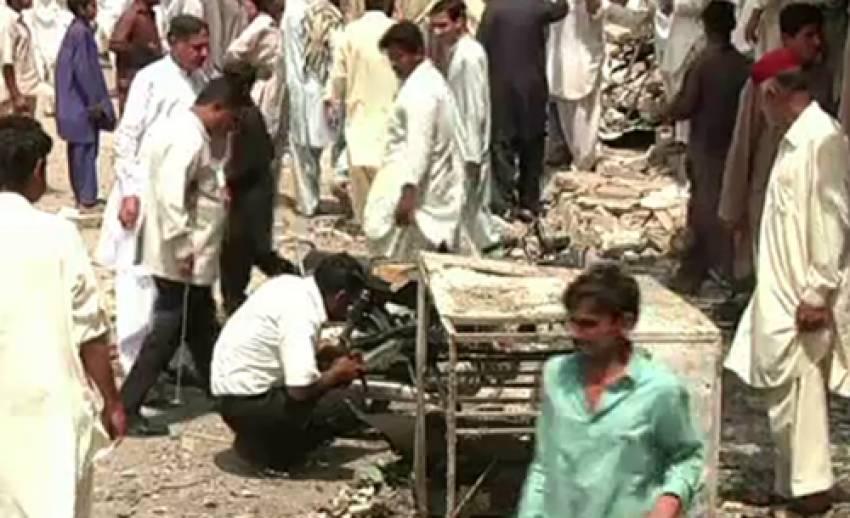 เกิดเหตุคนร้ายลอบวางระเบิดหลายจุดในวันเลือกตั้งปากีสถาน