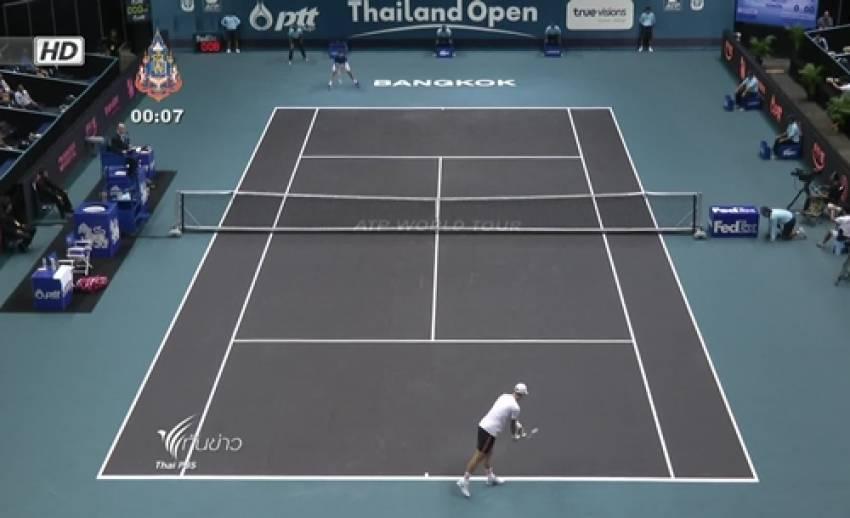 กาสเก้ท์เเพ้ราโอนิค 1-2 เซท ศึกเทนนิสไทยเเลนด์โอเพ่น