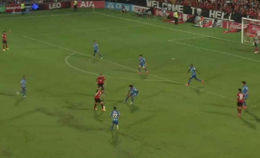 เมืองทองฯ เสมอ ชลบุรี 1-1 ในฟุตบอลไทยพรีเมียร์ลีก