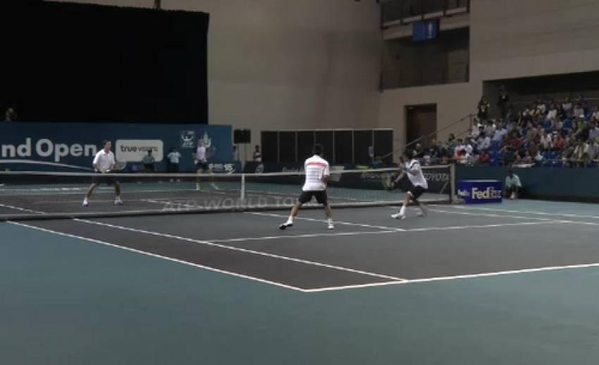 """""""ดนัย-ลู่ เยิน ชุน"""" ผ่านเข้ารอบเทนนิสไทยเเลนด์ โอเพ่น"""