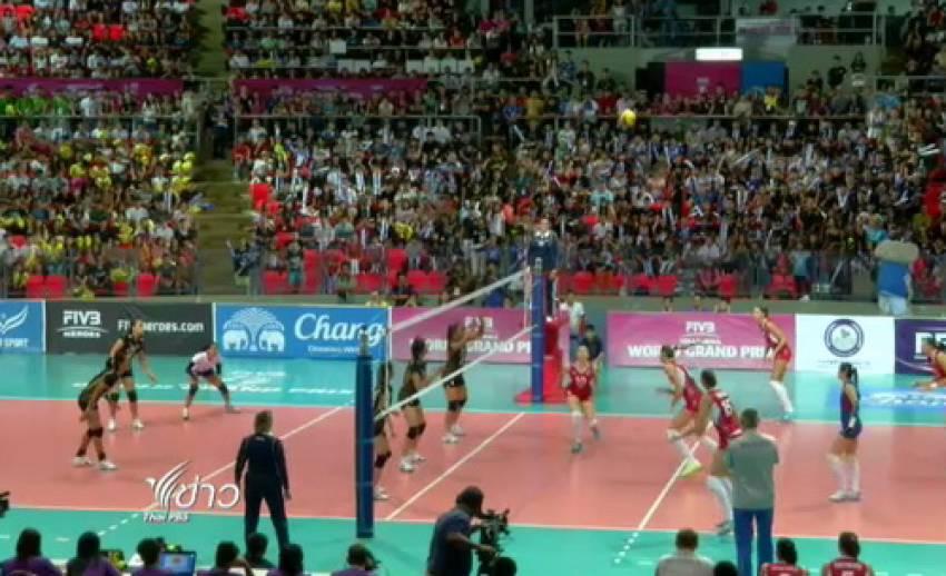 """วอลเลย์บอลหญิงทีมชาติไทยแพ้""""รัสเซีย"""" 2-3 เซต ส่งท้ายศึกเวิลด์กรังด์ปรีซ์"""