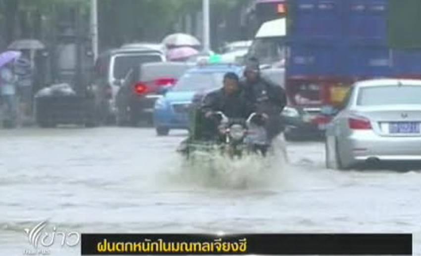 มณฑลเจียงซีของจีนเผชิญฝนตกหนัก