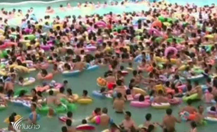 จีนเผชิญอากาศร้อนสุดขีด อุณหภูมิพุ่งสูงกว่า 40 องศาเซลเซียส