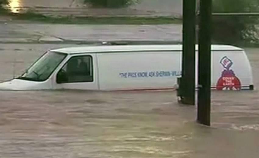 สหรัฐฯเผชิญอุทกภัย จากฝนตกหนัก