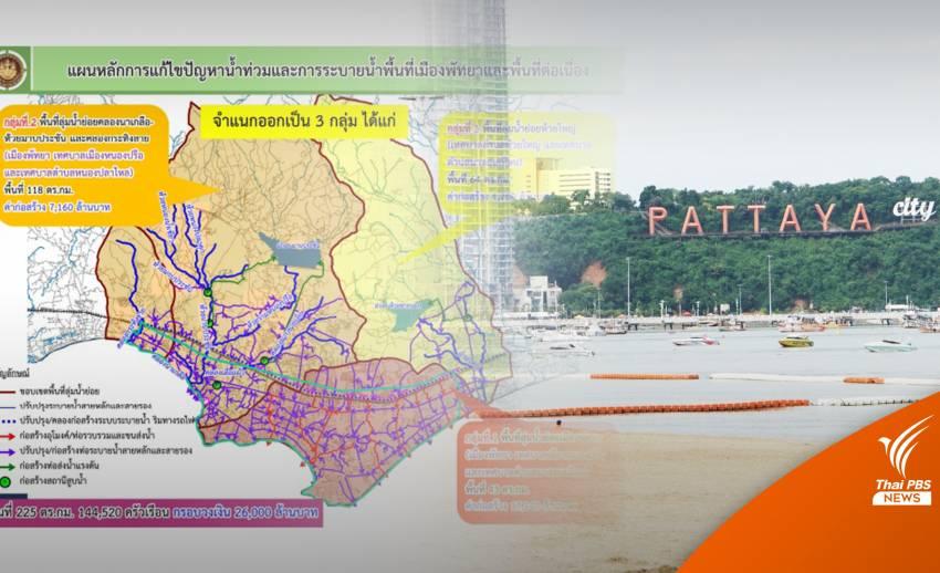 """กางแผนโครงการ 2.6 หมื่นล้าน แก้น้ำท่วม """"เมืองพัทยา"""" ยั่งยืน"""