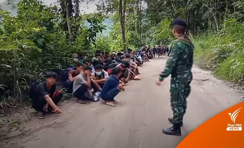 วันเดียวสกัดแรงงานเมียนมาลอบเข้าไทยเกือบ 200 คน