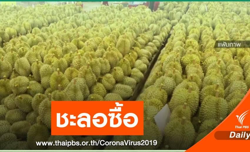 ชะลอซื้อผลไม้จังหวัดสีเเดง หลังจีนเข้มตรวจ COVID-19