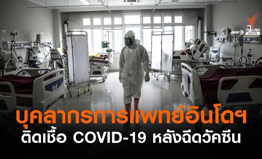 บุคลากรแพทย์อินโดฯ กว่า 350 คนติด COVID-19 หลังฉีดวัคซีน