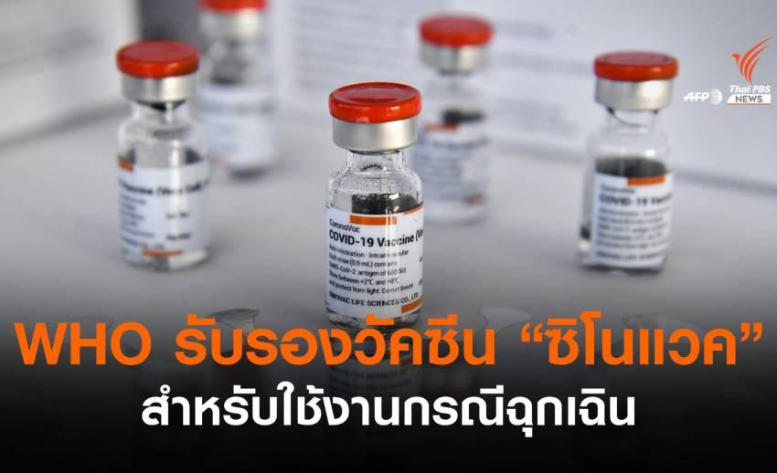 "WHO รับรองใช้วัคซีน ""ซิโนแวค"" กรณีฉุกเฉิน"