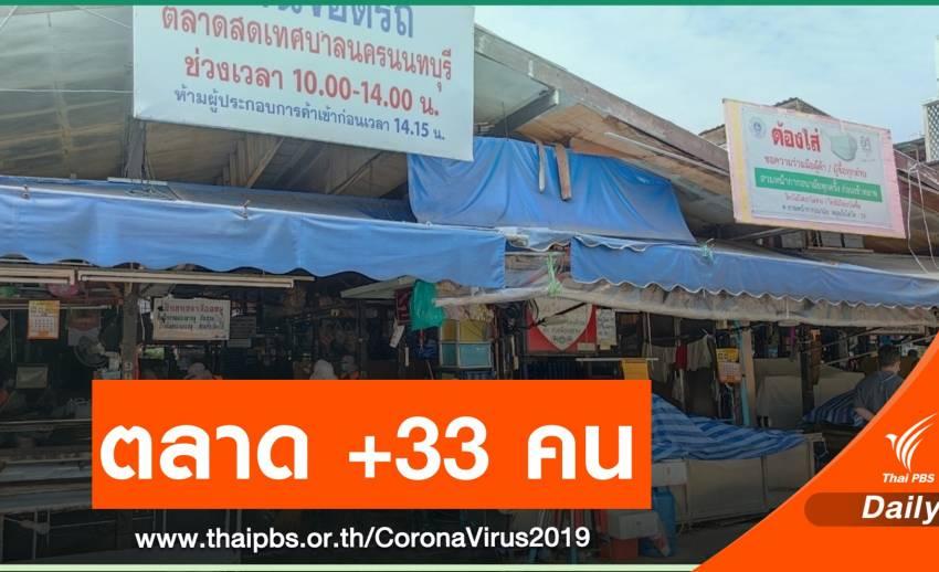 นนทบุรี ติดโควิดเพิ่ม 133 คน ผู้ค้าตลาดเทศบาลนนท์ 33 คน