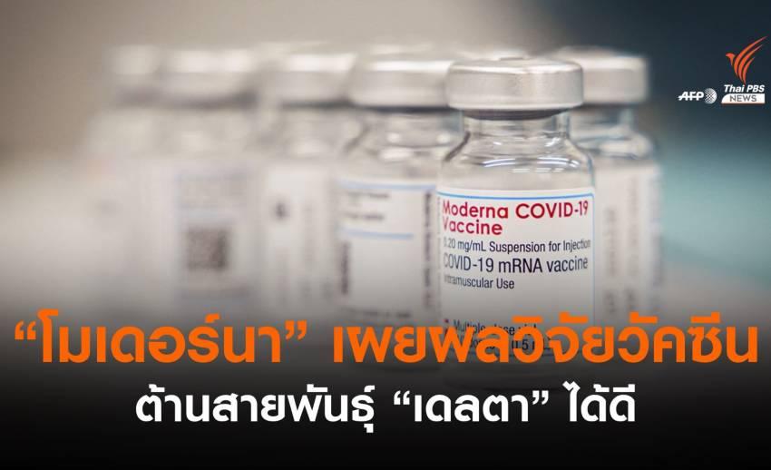 """""""โมเดอร์นา"""" เผยผลวิจัยวัคซีนต้านสายพันธุ์ """"เดลตา"""" ได้ดี"""