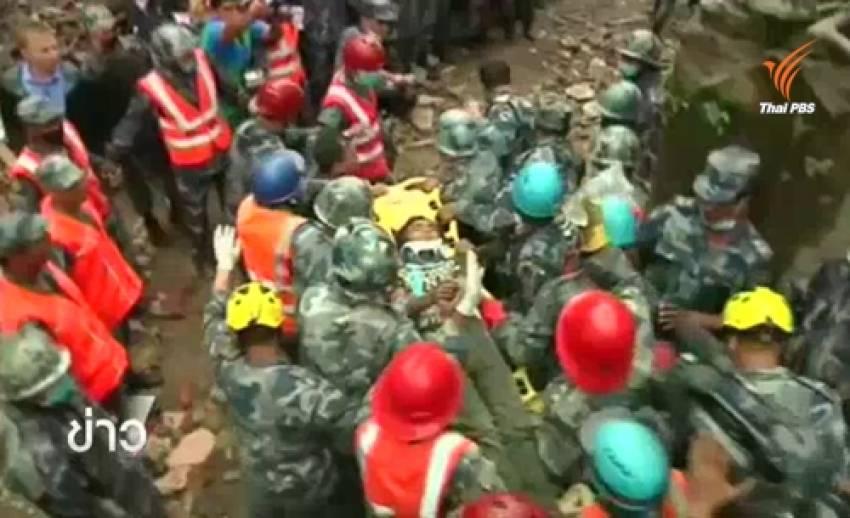 จนท.กู้ภัยพบผู้รอดชีวิตหลังเหตุแผ่นดินไหวในเนปาล 6 วัน