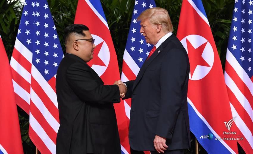 """ภาพประวัติศาสตร์ ประชุมสุดยอดผู้นำ """"ทรัมป์-คิม"""""""