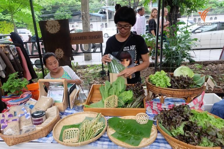 ฟาร์เมอร์ช็อป หนึ่งในร้านขายผักอินทรีย์ใน Root Market เป็นสื่อกลางระหว่างเกษตรกรและผู้บริโภค