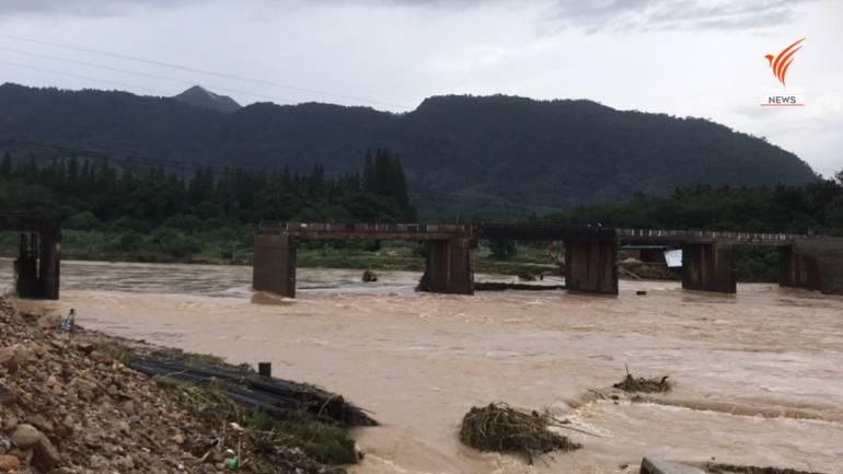 , นบพิตำสะพานขาด ตัด 13 หมู่บ้าน อีกหลายจว.ยังไม่คลี่คลาย