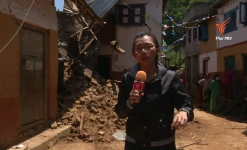 อาสาสมัครร่วมสร้างอาคารให้ผู้ประสบภัยในเนปาล
