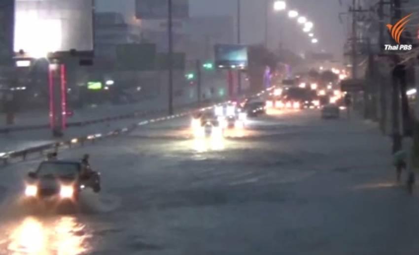 สำรวจความเสียหายน้ำท่วมใหญ่เมืองพัทยา