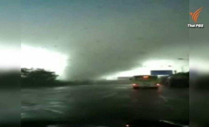 อิทธิพลไต้ฝุ่นมูจีแกก่อให้เกิดพายุทอร์นาโดในจีน