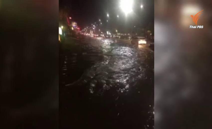 น้ำท่วมหลายจุดในตัวเมืองโคราชหลังฝนตกหนัก