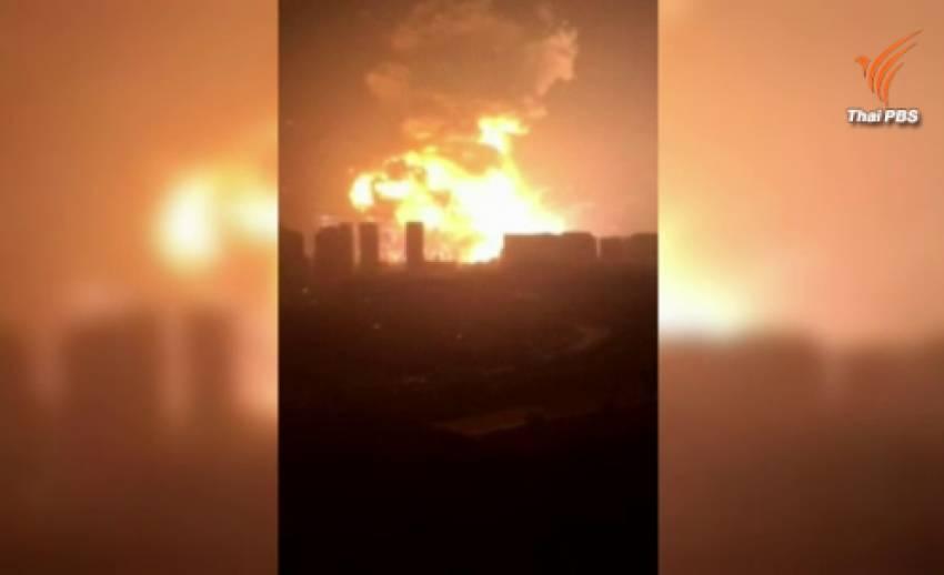 """รัฐบาลจีนเร่งหาสาเหตุระเบิดใน """"เทียนจิน"""" ยอดผู้เสียชีวิตกว่า 50 บาดเจ็บกว่า 700 คน"""