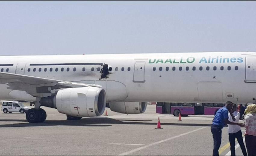 จนท.พบชิ้นส่วนระเบิดบนเครื่องบินโดยสารโซมาเลีย