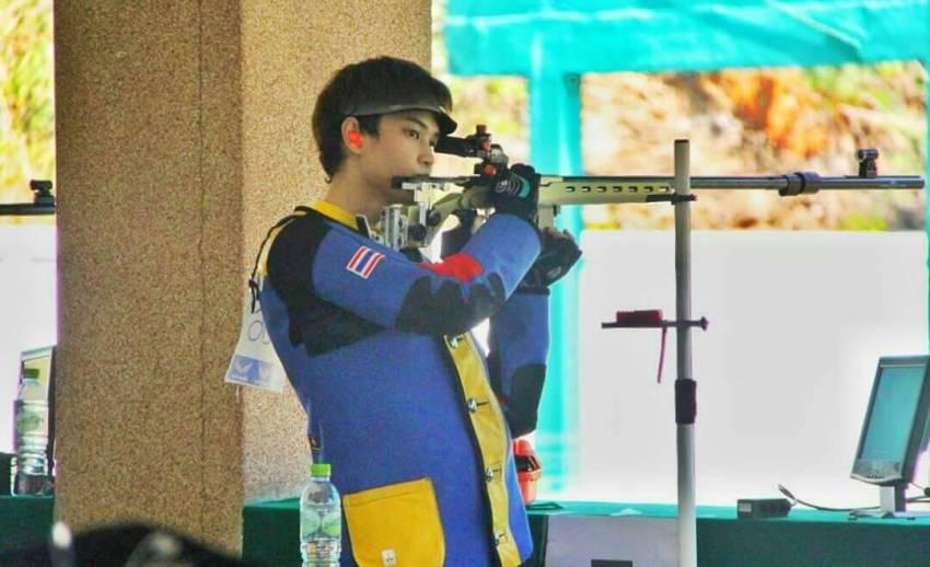 """""""นภิศ"""" นักยิงปืนดาวรุ่งทีมชาติไทย คว้าโควต้าโอลิมปิกใบสุดท้าย"""